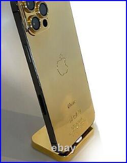 24K iPhone 12 Pro 512Gb Max Gold Plated Unlocked Brand New GSM CDMA NEW CUSTOM