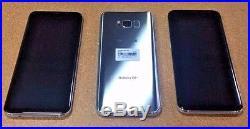 3 MINT Samsung Galaxy S8 + Plus T-Mobile 64GB Silver Lot Bad Financed IMEI #102