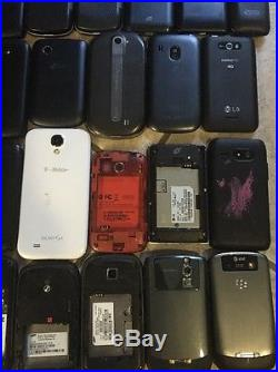 40 Smartphones, 1 iPod Lot, Resale, For Parts