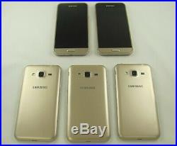 5 Samsung SM-J320P Galaxy J3 Sprint Cell Phone Lot GOOD