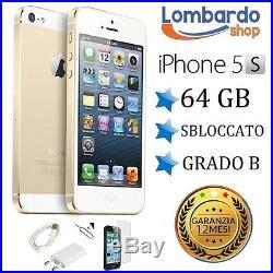 Apple Iphone 5s 64gb Grade B Gold Original Regenerated Reconditioned Second Hand