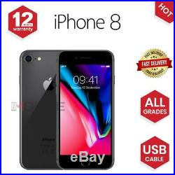 Apple iPhone 8 64GB/256GB Gold/Grey/ Silver UNLOCKED Various Grades
