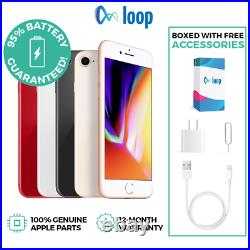 Apple iPhone 8 64GB Factory Unlocked All Carriers Refurbished Silver