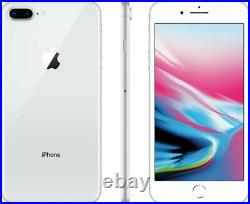 Apple iPhone 8 Plus 64GB Silver Factory GSM AT&T / T-Mobile Unlocked Phone