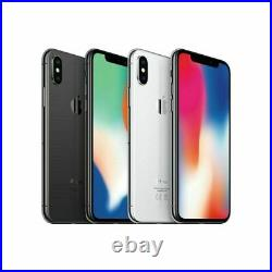 Apple iPhone X 64GB 256GB, Space Gray Silver, CDMA + GSM Unlocked IOS Smartphone