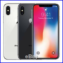 Apple iPhone X 64GB Factory Unlocked 4G LTE iOS WiFi 12MP Camera Smartphone
