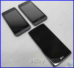 Dealer Lot Of 3 Cricket Wireless GSM Android Cell Phones Smartphones LG HTC