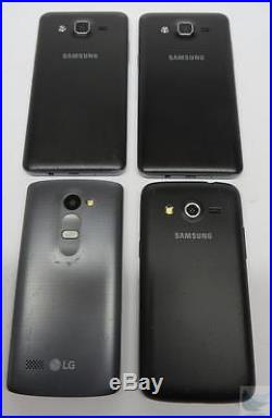 Dealer Lot Of 4 Metro PCS GSM Android Cell Phones Smartphones LG & Samsung