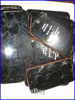 HTC One SV 8GB Red Boost Mobile Smartphone Lot of 10 with cracked screen