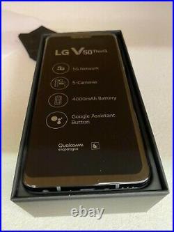 LG V50 ThinQ 5G 128GB (Sprint Unlocked) Smartphone Black NEW OPEN BOX Read Note