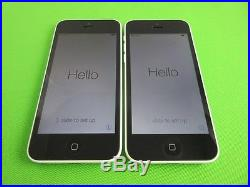 Lot 2 Apple iPhone 5C-16GB- GSM Factory Unlocked Good Condition White Color