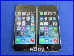 Lot 2 Apple iPhone 5S 16GB Wifi For SPRINT Good Condition Space Gray Color