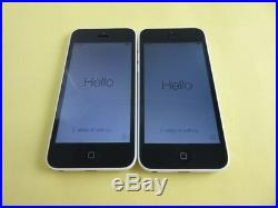 Lot 2 Mint Apple iPhone 5C White 16GB Unlocked for AT&T, T-Mobile. Oversea