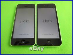 Lot 2 Near Mint Apple iPhone 5C-8GB for Verizon & GSM Factory Unlocked White