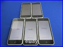 Lot 5 Apple iPhone 5C 16GB Factory Unlocked for GSM Good Condition White Color