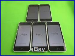 Lot 5 Good Cond Apple iPhone 5C-8GB-for Verizon & GSM Factory Unlocked White