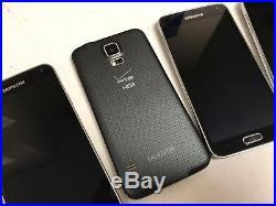 Lot Of 5 Samsung Galaxy S5 16gb Sm-g900v Verizon + Gsm Unlocked Cell Phones