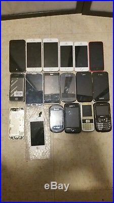 Lot of 16x Mixed Phones iPhone, Samsung, LG
