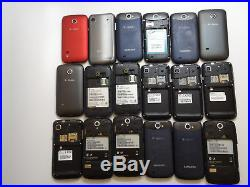 Lot of 18 T-Mobile Smartphones Mixed Brands 9 Samsung All Power On AS-IS GSM