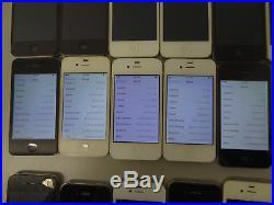 Lot of 22 Apple iPhone 4 & 4s Sprint & Verizon Smartphones AS-IS CDMA