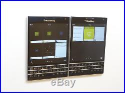 Lot of 2 Blackberry Passport SQW100-1 32GB GSM Unlocked Smartphones AS-IS