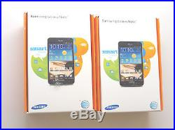 Lot of 2 New Sealed Samsung Galaxy Note SGH-I717 AT&T Black Smartphones GSM