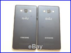 Lot of 2 Samsung Galaxy A7 GSM Unlocked 16GB Blue SM-A700L Smartphones AS-IS