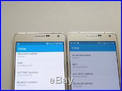 Lot of 2 Samsung Galaxy A7 GSM Unlocked 16GB Gold Smartphones AS-IS