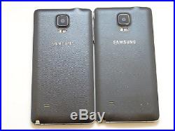 Lot of 2 Samsung Galaxy Note 4 SM-N910H 32GB GSM Unlocked Smartphones AS-IS