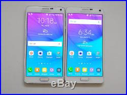 Lot of 2 Samsung Galaxy Note 4 SM-N910T T-Mobile Smartphones AS-IS GSM ^
