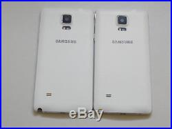 Lot of 2 Samsung Galaxy Note 4 White T-Mobile & GSM Unlocked Smartphones AS-IS