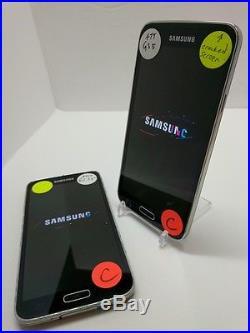 Lot of (2) Samsung Galaxy S5 SM-G900A 16GB (AT&T) (BC) (A1)