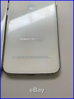 Lot of 2 Samsung Galaxy S6 Edge G925A AT&T 64GB White Smartphones Burn marks