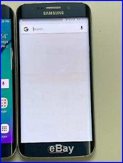 Lot of 2 Samsung Galaxy S6 Edge G925T T-mobile + GSM Unlocked Black Smartphones