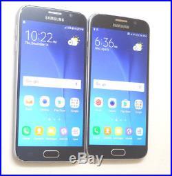 Lot of 2 Samsung Galaxy S6 SM-G920AZ Cricket Smartphones AS-IS GSM