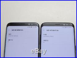 Lot of 2 Samsung Galaxy S8 SM-G950F 64GB Claro Smartphones AS-IS GSM