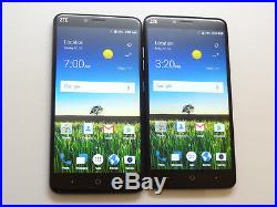 Lot of 2 ZTE Blade X Max Z983 32GB Cricket Smartphones 1 Unlocked AS-IS GSM
