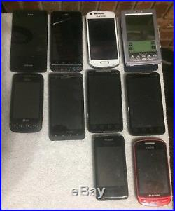 Lot of 33 Assorted Cell Phones AS-IS Broken Parts Repair Samsung, LG, iPhone Etc