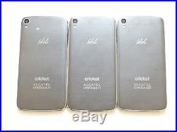 Lot of 3 Alcatel OneTouch Idol 3 6045O 16GB Cricket Smartphones GSM