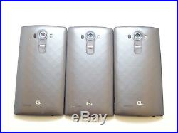 Lot of 3 LG G4 H811 Metallic Silver T-Mobile & GSM Unlocked Smartphones AS-IS