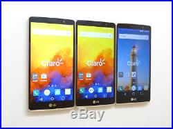 Lot of 3 LG G4 Stylus H635C 8GB Claro Smartphones Good Charger Port AS-IS GSM