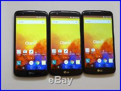 Lot of 3 LG K10 K420PR 8GB Claro Smartphones Good Charger Ports AS-IS GSM