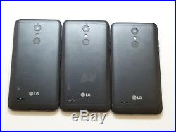 Lot of 3 LG K30 32GB Smartphones 2 Sprint 1 Boost Mobile AS-IS CDMA
