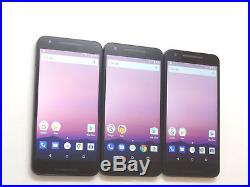 Lot of 3 LG Nexus 5X GSM Unlocked 32GB Smartphones AS-IS GSM