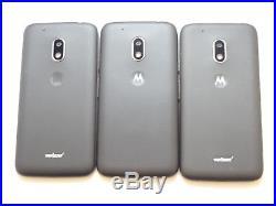 Lot of 3 Motorola Moto G4 Play XT1607 Verizon & GSM Unlocked Smartphones AS-IS