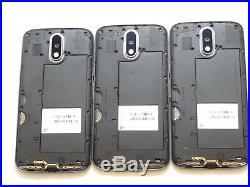 Lot of 3 Motorola Moto G4 XT1625 GSM Unlocked Smartphones AS-IS GSM