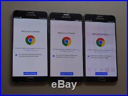 Lot of 3 Samsung Galaxy Note 5 SM-N920V Verizon Unlocked Smartphones AS-IS GSM