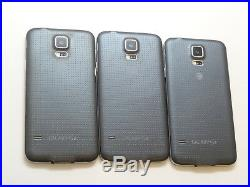 Lot of 3 Samsung Galaxy S5 SM-G900A AT&T GSM Unlocked Smartphones AS-IS GSM