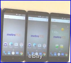 Lot of 3 ZTE ZMax Pro Z981 32GB MetroPCS & GSM Unlocked Smartphones