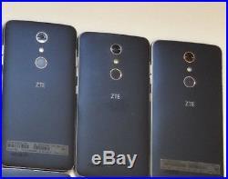 Lot of 3 ZTE ZMax Pro Z981 32GB MetroPCS & GSM Unlocked Smartphones AS-IS